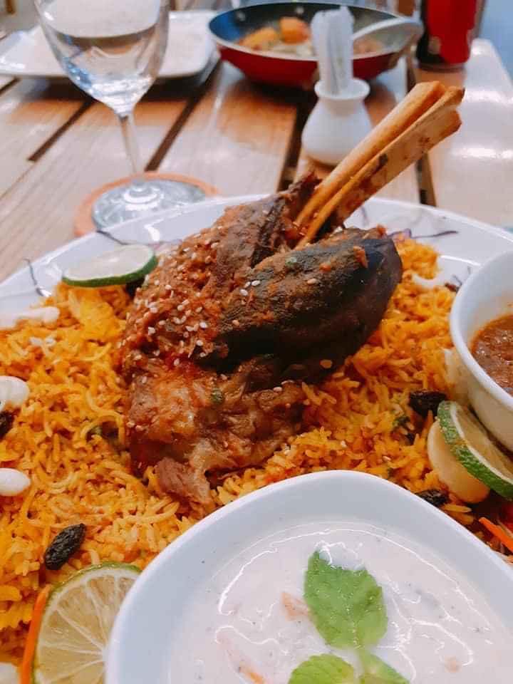606. Lamb Shank Mandi Rice