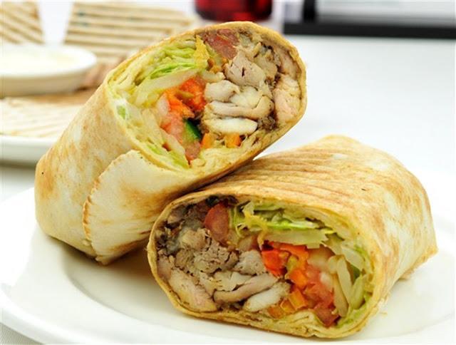 107. Chicken Shawarma Wrap