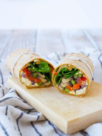 110. Grill Vegetables Wrap
