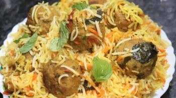 605. Chicken Kofta Kabab Biryani